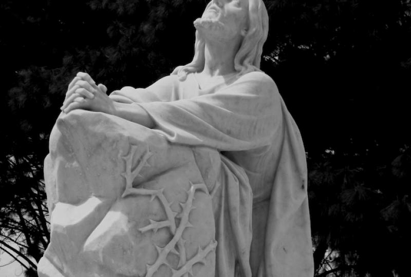 JESUS SOZINHO NO HORTO